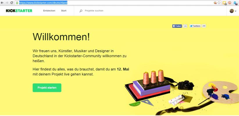 kickstarter deutschland